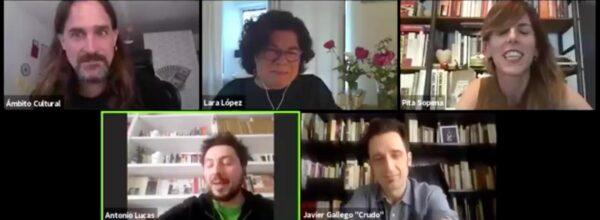 "LdeLírica 35: Lara López, Antonio Lucas y Javier Gallego ""Crudo"""